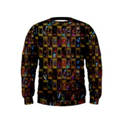 Kaleidoscope Pattern Abstract Art Kids  Sweatshirt