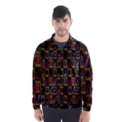 Kaleidoscope Pattern Abstract Art Wind Breaker (Men)
