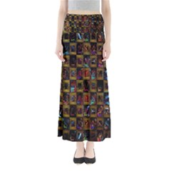 Kaleidoscope Pattern Abstract Art Maxi Skirts