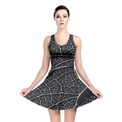 Leaf Pattern  B&w Reversible Skater Dress