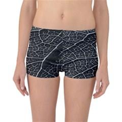 Leaf Pattern  B&w Reversible Bikini Bottoms