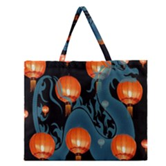 Lampion Zipper Large Tote Bag