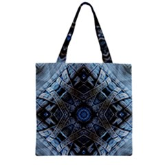 Jeans Background Zipper Grocery Tote Bag
