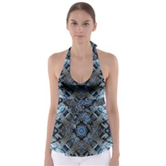 Jeans Background Babydoll Tankini Top