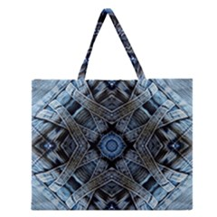 Jeans Background Zipper Large Tote Bag