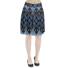 Jeans Background Pleated Skirt