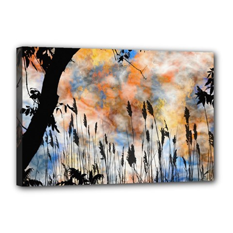 Landscape Sunset Sky Summer Canvas 18  x 12