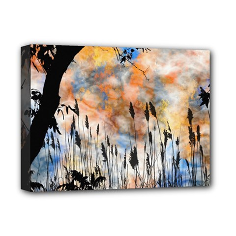 Landscape Sunset Sky Summer Deluxe Canvas 16  X 12