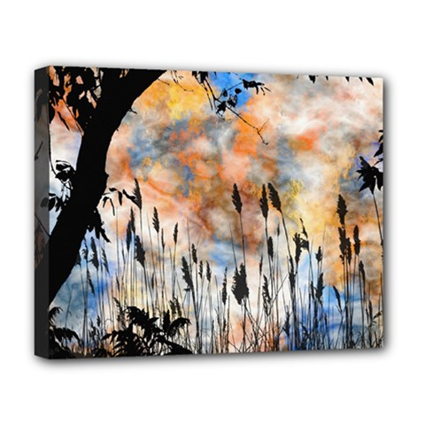 Landscape Sunset Sky Summer Deluxe Canvas 20  X 16