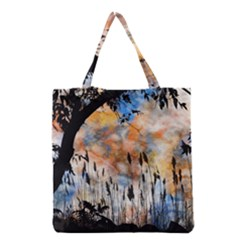 Landscape Sunset Sky Summer Grocery Tote Bag