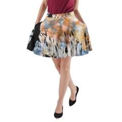 Landscape Sunset Sky Summer A-Line Pocket Skirt