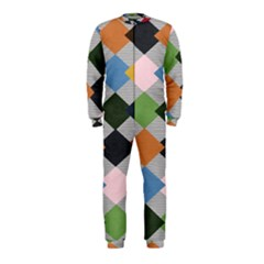 Leather Colorful Diamond Design Onepiece Jumpsuit (kids)