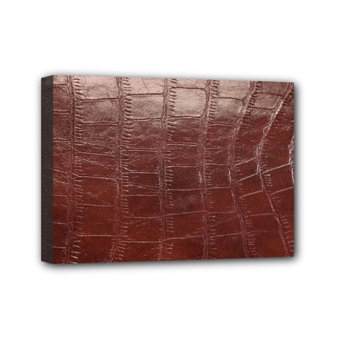 Leather Snake Skin Texture Mini Canvas 7  x 5
