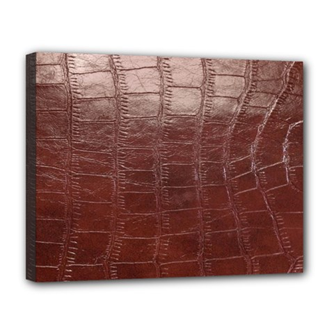 Leather Snake Skin Texture Canvas 14  X 11