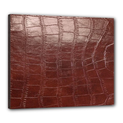Leather Snake Skin Texture Canvas 24  x 20