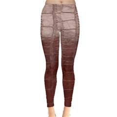 Leather Snake Skin Texture Leggings