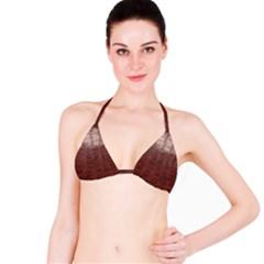 Leather Snake Skin Texture Bikini Top