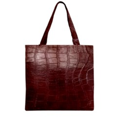 Leather Snake Skin Texture Grocery Tote Bag