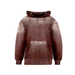 Leather Snake Skin Texture Kids  Pullover Hoodie
