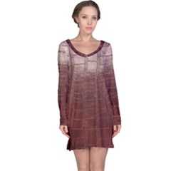 Leather Snake Skin Texture Long Sleeve Nightdress