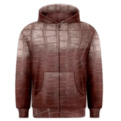Leather Snake Skin Texture Men s Zipper Hoodie