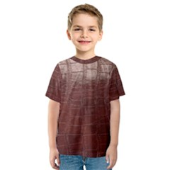 Leather Snake Skin Texture Kids  Sport Mesh Tee