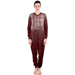 Leather Snake Skin Texture Onepiece Jumpsuit (ladies)