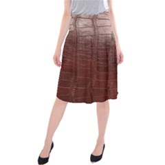 Leather Snake Skin Texture Midi Beach Skirt