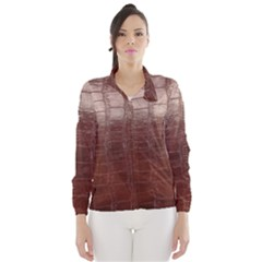 Leather Snake Skin Texture Wind Breaker (Women)