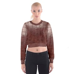Leather Snake Skin Texture Women s Cropped Sweatshirt