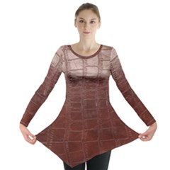 Leather Snake Skin Texture Long Sleeve Tunic