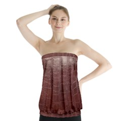Leather Snake Skin Texture Strapless Top