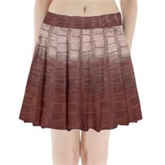 Leather Snake Skin Texture Pleated Mini Skirt