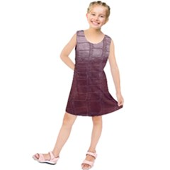 Leather Snake Skin Texture Kids  Tunic Dress