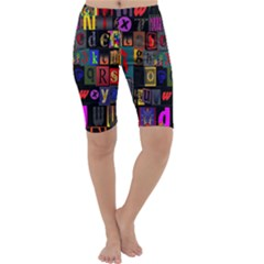 Letters A Abc Alphabet Literacy Cropped Leggings