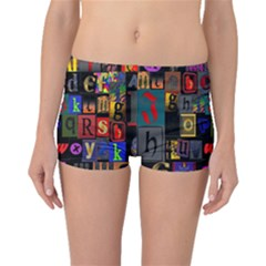 Letters A Abc Alphabet Literacy Boyleg Bikini Bottoms