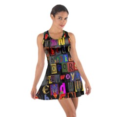 Letters A Abc Alphabet Literacy Cotton Racerback Dress