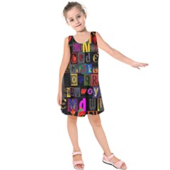 Letters A Abc Alphabet Literacy Kids  Sleeveless Dress