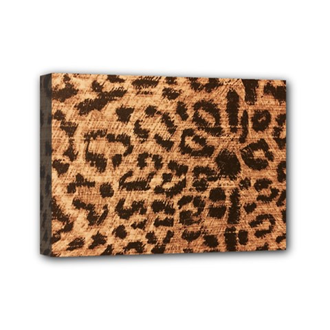 Leopard Print Animal Print Backdrop Mini Canvas 7  x 5