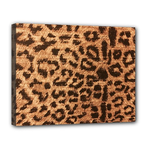 Leopard Print Animal Print Backdrop Canvas 14  x 11