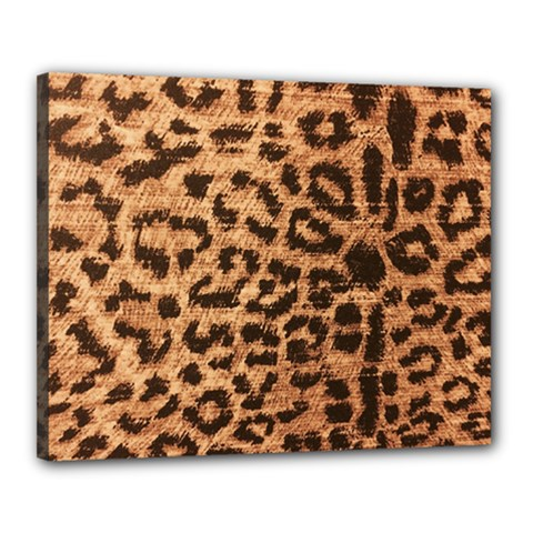 Leopard Print Animal Print Backdrop Canvas 20  X 16