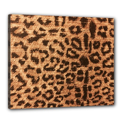 Leopard Print Animal Print Backdrop Canvas 24  x 20