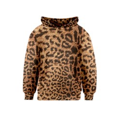 Leopard Print Animal Print Backdrop Kids  Pullover Hoodie