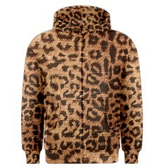 Leopard Print Animal Print Backdrop Men s Zipper Hoodie