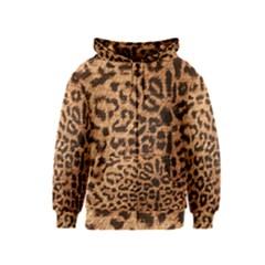 Leopard Print Animal Print Backdrop Kids  Zipper Hoodie