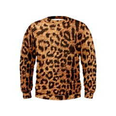 Leopard Print Animal Print Backdrop Kids  Sweatshirt