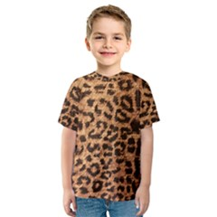 Leopard Print Animal Print Backdrop Kids  Sport Mesh Tee