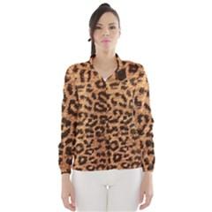 Leopard Print Animal Print Backdrop Wind Breaker (women)