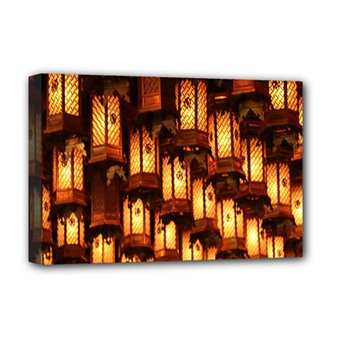Light Art Pattern Lamp Deluxe Canvas 18  x 12