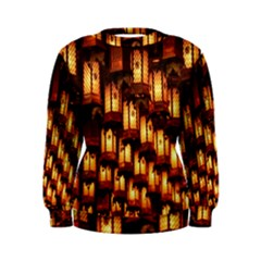 Light Art Pattern Lamp Women s Sweatshirt